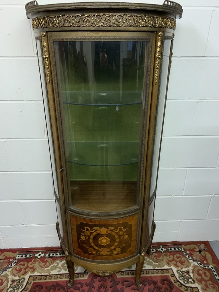 French Style Inlaid Display Cabinet